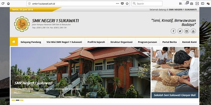 Publikasi Website SMK Negeri 1 Sukawati